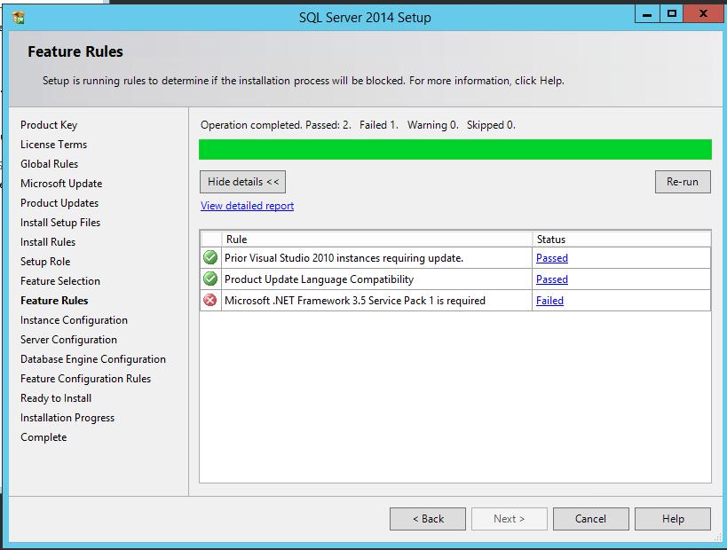 how to fix net framework 3.5 error windows server 2016